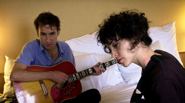 Andrew Bird rehearses with Annie Clark (St. Vincent)